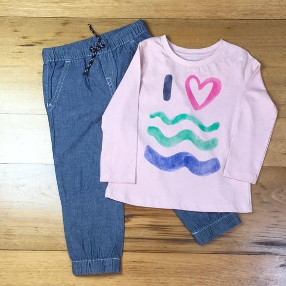 Gymboree Girl Wave Pink Sweatshirt